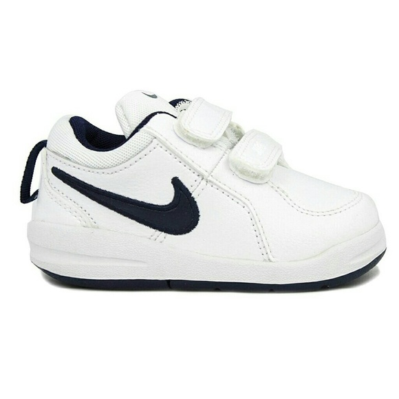 KIDS Toddler Nike Black & White Velcro Sneakers