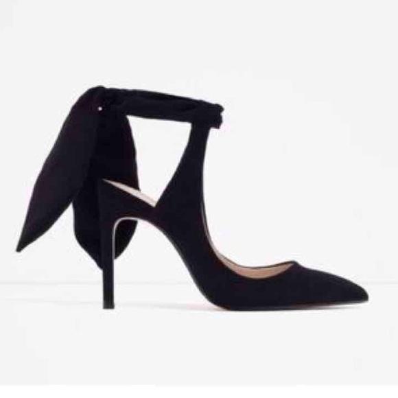 Zara Slingback Heels with Bow. M 583e4fda2de512bb6003872d