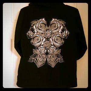 Black graphic hoodie