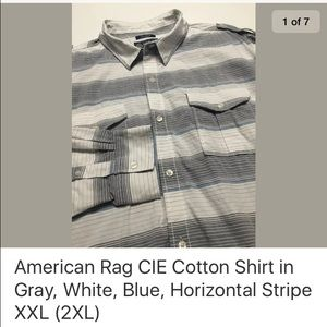 American Rag Other - American Rag CIE Shirt in Horizontal Stripe XXL