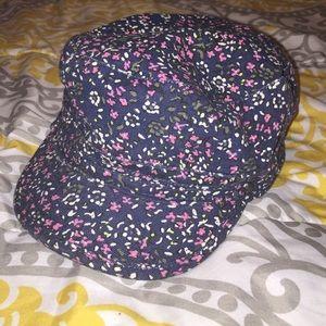 Flowery fashionable baseball cap