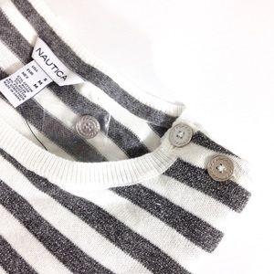 Nautica Sweaters - Nautica | Metallic Striped Sweater