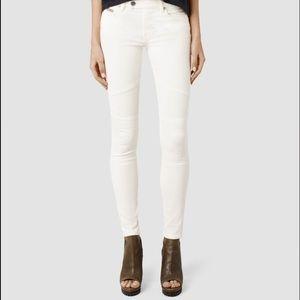 All Saints White jeans