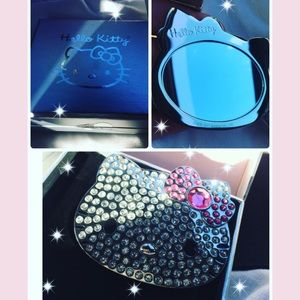 Hello kitty  x Sephora hand mirror crystal New
