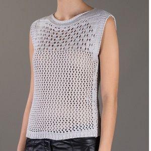 Pierre Balmain Tops - HP🎉[pierre balmain] crochet knit tank