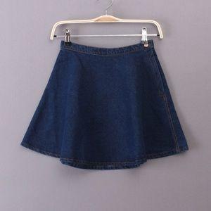 American Apparel dark denim circle skirt