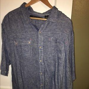 Sean John blue linen shirt