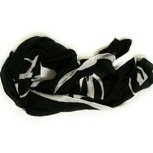 Merona Black & White Glasses Print Scarf