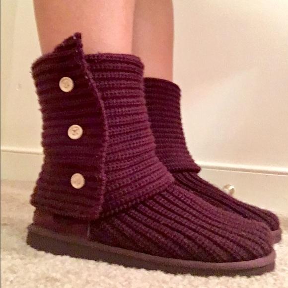burgundy ugg boots