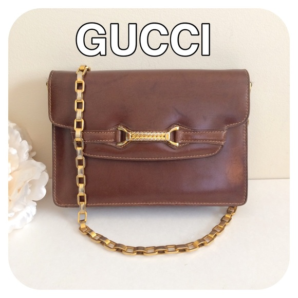 e8c411f56ef Gucci Handbags - 🎉SALE🎉 GUCCI Leather Evening Clutch Purse Brown