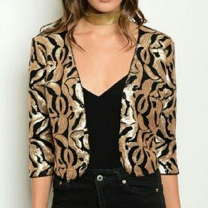 Jackets & Blazers - 💋HP💋Sassy in Sequin jacket NWT