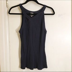 Anthropologie Pleated Sleeveless Top
