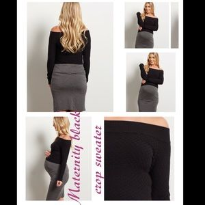 Tops - NWT black maternity crop sweater
