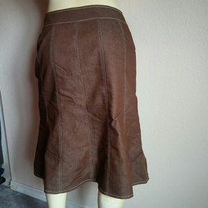 Trendy Brown Full Skirt