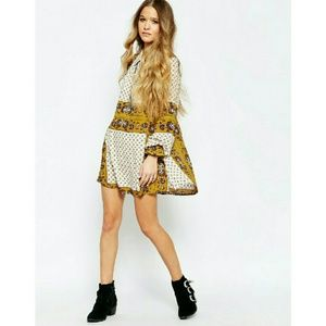 Free People Tops - New! FREE PEOPLE Floral Print Tunic Top Shirt NWT
