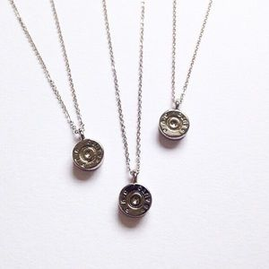 Silver Tiny Bullet Top Pendent
