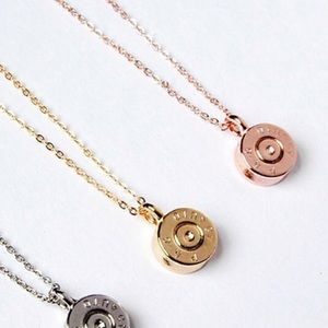 Rose Gold Tiny Bullet Top Pendent