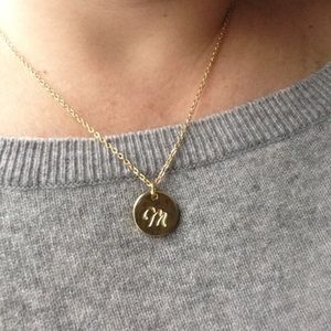 Jewelry - CUSTOM CURSIVE INITIAL PENDANT NECKLACE
