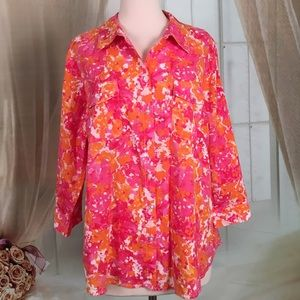 croft & barrow Tops - Croft & Barrow Pink and Orange Blouse