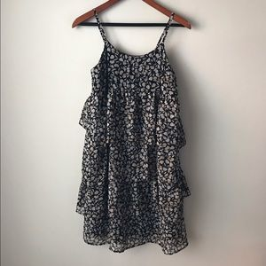 Who What Wear floral printed tiered ruffled dress