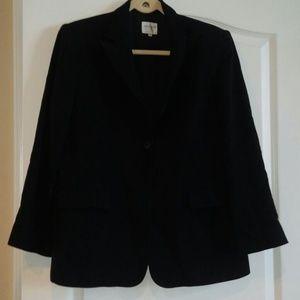 Armani Collezioni 3 button black wool blazer sz 14