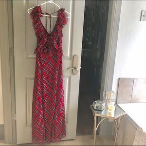 0bcf47a473 Free People Dresses - Free People Red Tartan Plaid Venetia Dress