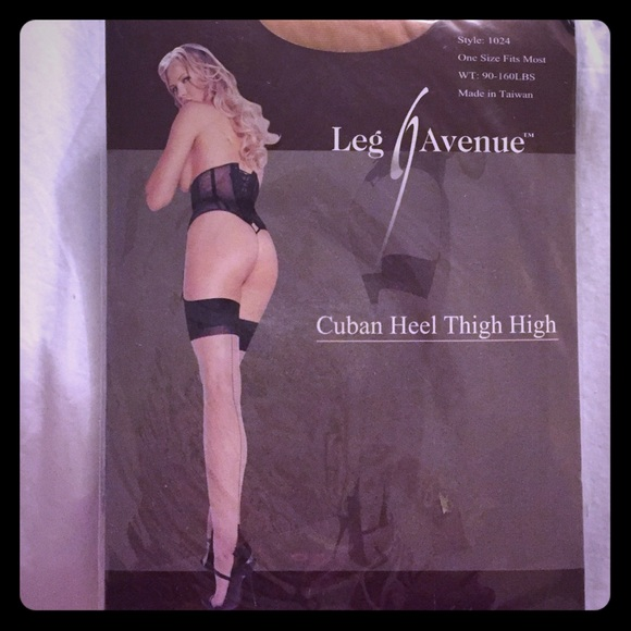 34a06702531c5 Leg Avenue Accessories | Cuban Heel Thigh Highs | Poshmark