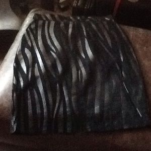 Dresses & Skirts - Sz4 AMAZING,VINTAGE zebra pattern leather/suede👠