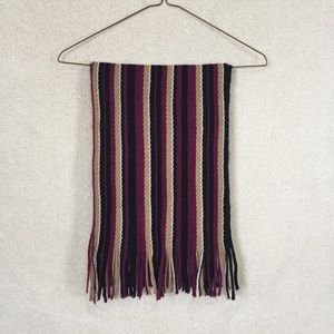 Striped Knitted Winter Scarf