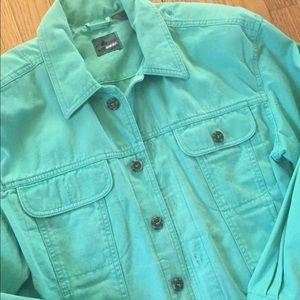 Vintage mint green cotton jacket