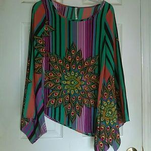 Hello MIZ Tops - Gorgeous Colorful Blouse