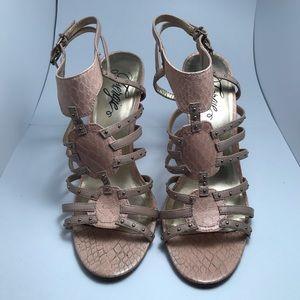 Fergie Shoes - Fergie Tan Sandel Heels