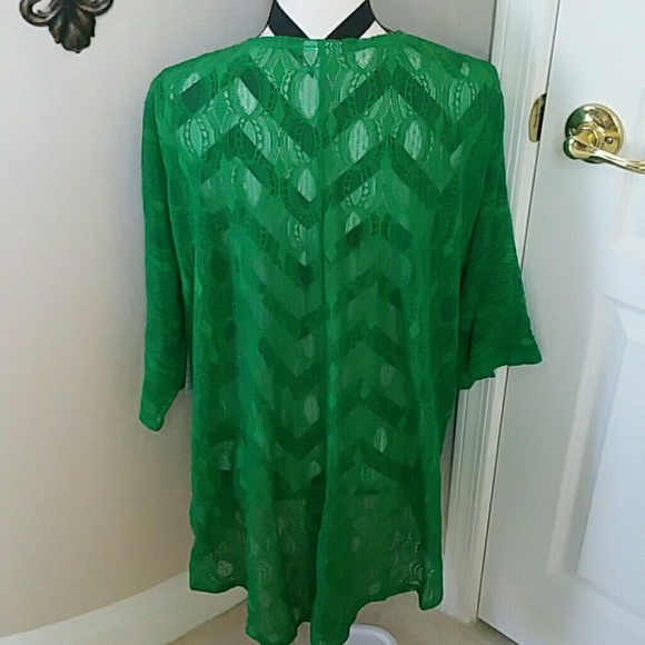 36% off LuLaRoe Sweaters - Lularoe Green Lace Cardigan NWT from ...