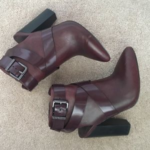 BCBGeneration Shoes - Burgundy BCBG Open heel bootie