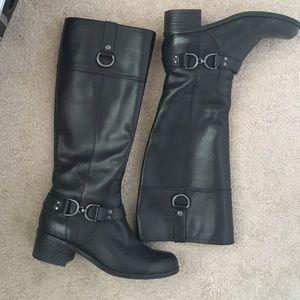 Shoes - Bandolino Black Riding Boots- leather