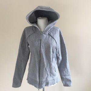 lululemon athletica Tops - EXCELLENT Lululemon Scuba hoodie. Gray. Size 10.