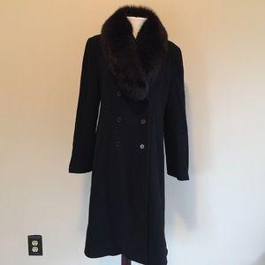 S by Searle Jackets & Blazers - S by Searle fur collar winter coat jacket black 8