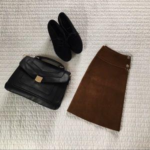 Vintage Suede A-line Skirt - See dimensions below