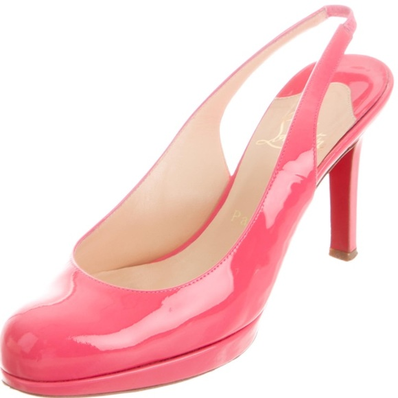 eb7b67b117f6 Christian Louboutin Shoes - AUTH Christian Louboutin pink Horatio 90 heels  39