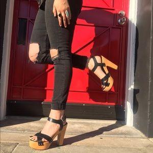 Zara Platform Sandals size 40