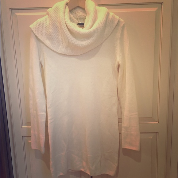 41229f60bc4 H M Cream cowl neck sweater dress tunic