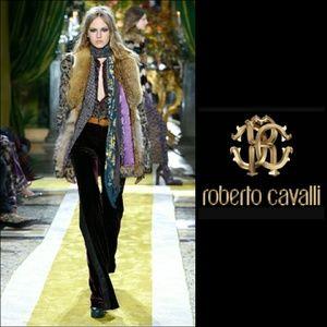 Roberto Cavalli Pants - 💕HP 💕ROBERTO CAVALLI BLACK VELVET BOOTCUT PANTS