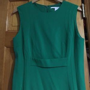 DIANE vonFURSTENBERG EMERALD GREEN DRESS 