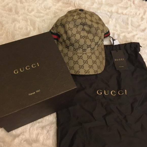Gucci Accessories - New Gucci Hat tags box dust bag receipt 44e9eb2a4b7