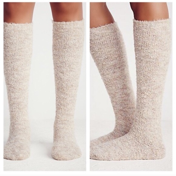 f7ac6ee19eb NEW Free People fuzzy knee high boot sock 👢