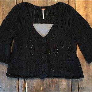 ✨final price ✨ Free people knit black cardigan