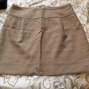 JCrew Tan Mini Skirt