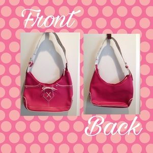  Small Hot Pink/White Bow Handbag/Purse 