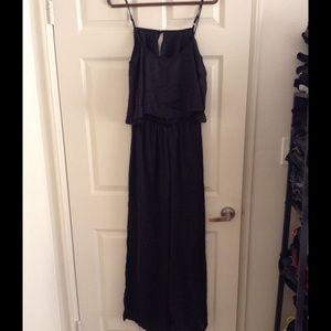 Mimi Chica Pants - Black silky jumpsuit
