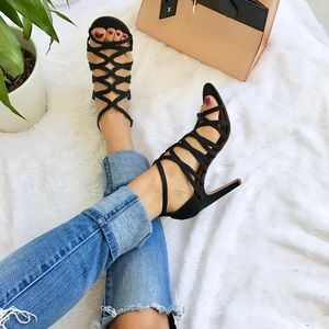Zara Shoes - Zara Black Satin Heels